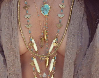 REVIVAL COLLECTION /// The High Priestess Necklace /// 24kt Gold Electroformed