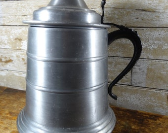 Vintage Beer Stein Ice Bucket. Brushed Aluminum With Plastic Ice Insert