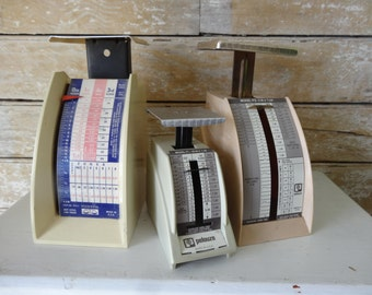 Vintage Postal Scales Set of 3 Instant Collection