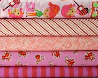 Career girls Pink fat quarter bundle