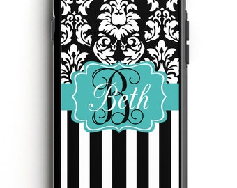 Personalized Phone Case - Dandy Damask Stripe Personalized Phone Case, Custom Phone Case, iPhone Case, Samsung Case