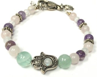 Hamsa Fertility Bracelet, Infertility, IVF, IUI, TTC, Baby Bracelet, Gift for Her, Healing Jewelry, Protection, Fertility Wishes, Reiki