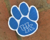 University of Kentucky Paw Patch Applique/Patch/Feltie/Iron on
