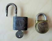 2 Vintage Padlocks Alpha and 101