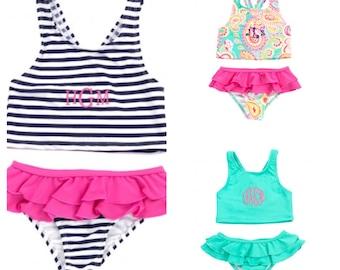 Girls monogram swim suit Bikini