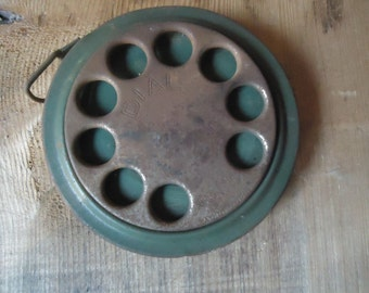 Antique Dial Tape Measure Reel/50 Ft. Green Tape Measure