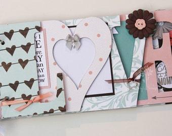 Love scrapbook, Wedding album, wedding gift, wedding guestbook, Valentine's day gift, elegant scrapbook, chipboard album -LV7
