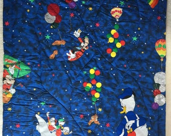 Disney Characters (Baby Quilt)-QuiltsbyShirley