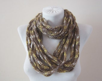 Chain Necklace,Scarf,Crochet Chain Scarf,infinity Scarf