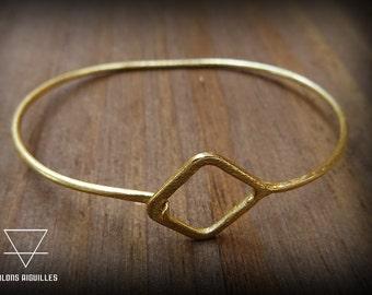 Bracelet laiton carré # brass bracelet # square #