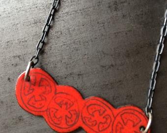 Enameled Tomato Necklace