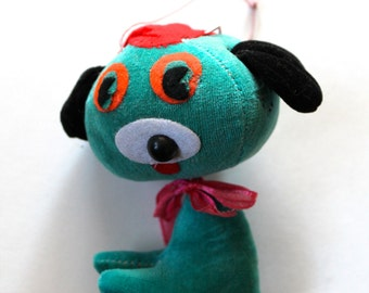 Vintage 1960's Hanging/Bouncing Dog Plush Doll!