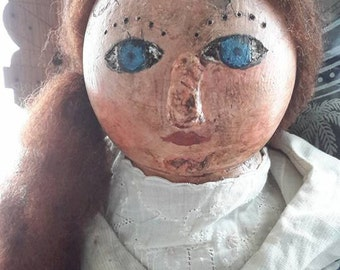 Prims Magazine, primitive grungy redhead handmade with keepsake box free shipping