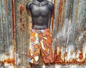vintage swim trunks/ board short / mens size 34