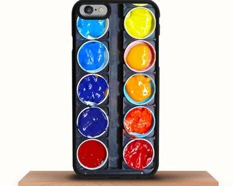 iPhone 7 Case, iPhone 7 Plus Case, iPhone 6/6S Plus Case, iPhone 6/6S Case, iPhone 5/5S/5C Case - Watercolour Paint Art Palette iPhone Case