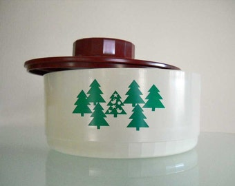 Vintage Christmas Tupperware Container