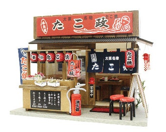 Billy DIY dollhouse : Takoyaki Shop of Naniwa /DIY dollhouse/Japanese style dollhouse/Billy dollhouse/Billy miniature,from Japan