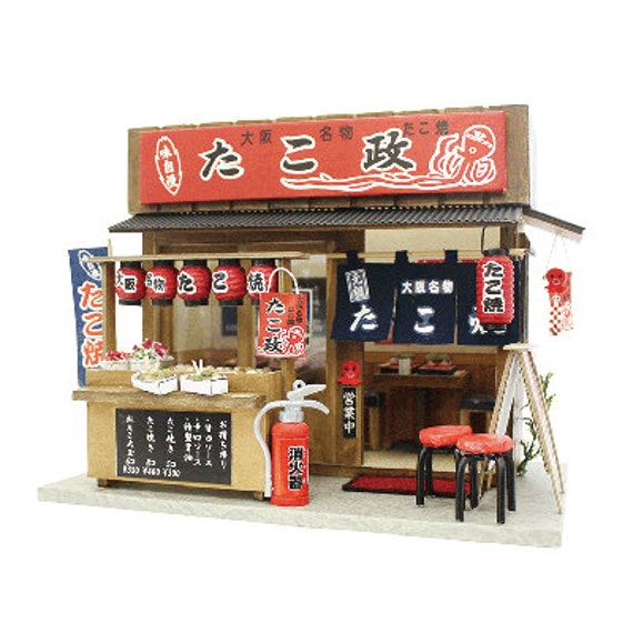 Billy DIY Dollhouse : Takoyaki Shop Of Naniwa /DIY