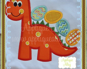 Easter Egg Dino Applique Design