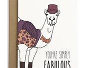 Hipster Camel Card