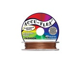 """Accu-Flex Beading Wire Nylon Stainless Steel Copper 49 strands 0.014"""" (0.3556mm) 100 Ft (30.48m)"""
