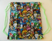 Mario NES Drawstring Backpack