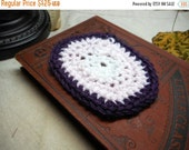 Mini Doll House Handmade Crocheted Oval Rug in lavender, snowy white, pink and orchid. OOAK