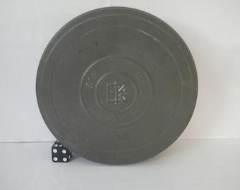 Vintage Eastman Kodak Tin Film Canister Embossed 1907 Logo