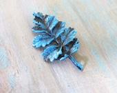 10 pcs Colour washed  patina blue Filigree findings leaf Charm/Pendant