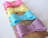 Bubblegum Pink Mini Bows - Set of 2