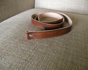 Leather Belt Strap with snap custom length