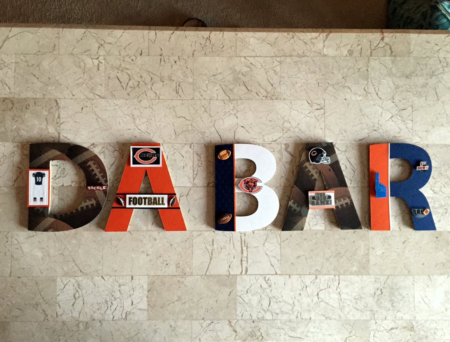 Chicago bears bar sign football sports bar wall decor pro zoom amipublicfo Images