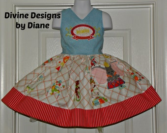 Dumbo Dress size 3T or 4T Finished and Ready to Ship