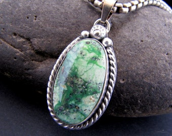 Stennich Turquoise Sterling Pendant
