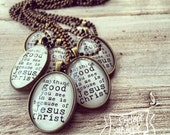 Anything GOOD you see in me is because of JESUS CHRIST necklace