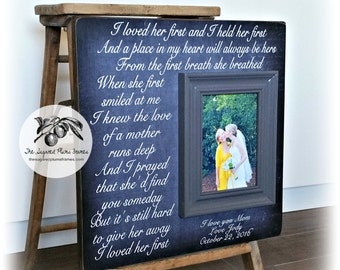 Mother of the Bride Gift, Personalized Picture Frame, Wedding Gift for Parents, 16x16 The Sugared Plums Frames
