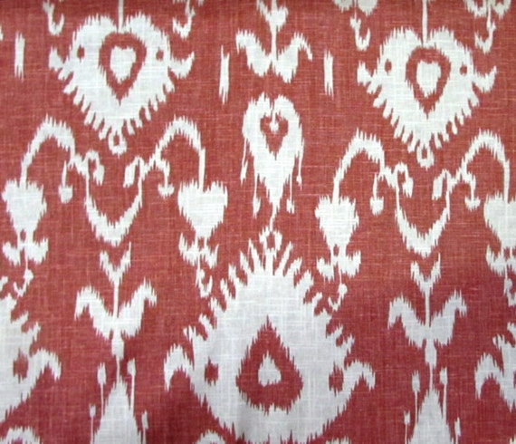 Bristow Cranberry Ikat Home Decor Print Multipurpose
