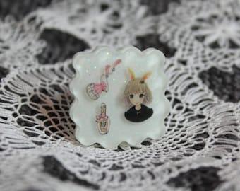 Cute Fashion Bunny Ear Girl Ring
