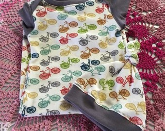 Organic Bicycle Baby Gown Ready to Ship