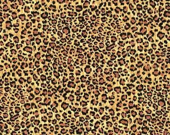 Cheetah Animal Print Safari  Andover Cotton Quilt Fabric by the 1/2 yard
