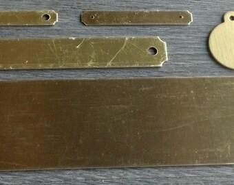 Equine - Brass - Engraved - Tag, Bridle, Halter, Saddle & Stall Plates Set
