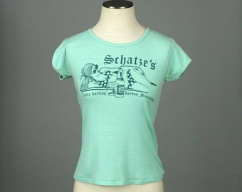vintage 1970s tee 50 / 50 blend tiny fit tshirt • LITTLE DARLING