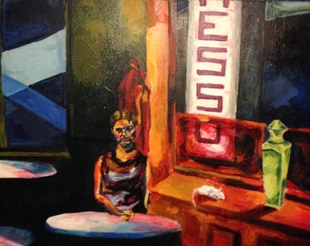 Abstracted Oil Painting - Night Cafe - Artistry To Alchemy