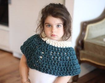 Short Poncho with Shell Detail - Toddler Edition
