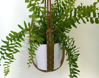 Handmade Leather Plant Hanger
