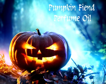 PUMPKIN FIEND Perfume Oil - Dark Pine, Balsam Fir, Pumpkin, Moss, Cardamom, Dry Leaves, Dark Spice - Halloween Perfume- Fall Fragrance