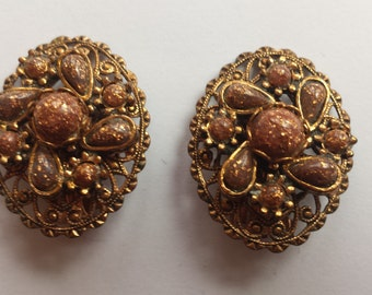 Copper Goldstone Clip-ons