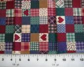 Old Fashioned Looking Print Block Fabric - 1/2 yard