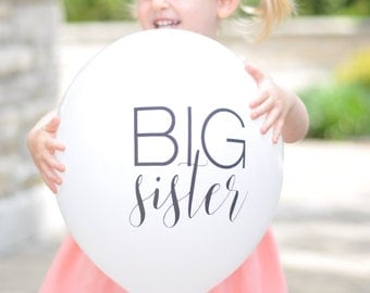 Big Sister Balloons | Big Brother Balloons (set of 6) Pregnancy Announcement | Photo Props