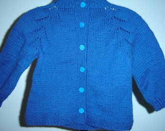 Electric blue sweater, size 2
